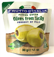 Frutto D'Italia pitted green olives from Sicily 30 gr., 10/cs