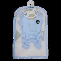 5-Piece Elephant theme Set 100% Cotton - BLUE