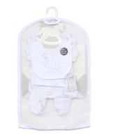 5-Piece Elephant theme Set 100% Cotton - WHITE