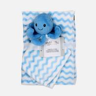 "Fleece blanket & Nunu Set - Octopus 100% Polyester, Blanket: 30""x36"", Nunu: 14""x14"""
