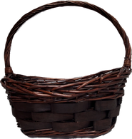"""Large Oval willow baskets with a handle  L: 18""""x14""""x5""""H1x8""""H2x17""""OH"""