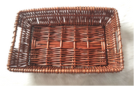 """Rectangular full willow basket 14""""x9""""x3.5""""H"""