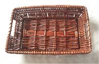 """Rectangular full willow basket 16""""x10""""x3.5""""H"""