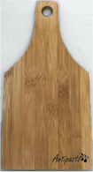"""Bamboo cutting board with """"Antipasto"""" engraved 5.5""""x0.4""""x11"""""""