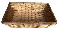 "Medium bamboo tray 14""x10""x3.75""H"