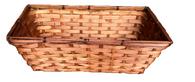 "Light Brown rectangular bamboo basket - Small 9.2""x6""x5.2""H"