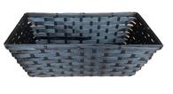"Black rectangular bamboo basket - Small 9.2""x6""x5.2""H"