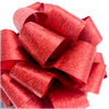 """5"""" Foil-look Pull Bows - 50 bows/case - RED"""