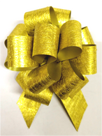 """5"""" Foil-look Pull Bows - 50 bows/case - GOLD"""