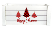 """White Merry Christmas crate 14""""X8""""X6""""H"""
