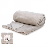 """Light Grey lined pattern soft throw - approx 56""""x72"""""""