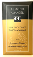 Qustom Confections Milk chocolate with Roasted Almonds bar 100 gr., 24/cs