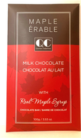 Qustom Confections Milk chocolate with Real Maple Syrup 100 gr., 24/cs