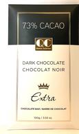 Qustom Confections Extra Dark chocolate - 73% Cacao 100 gr., 24/cs