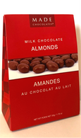 Made Chocolates - Milk chocolate Almonds 50 gr., 18/cs
