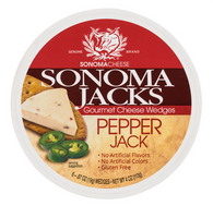 Sonoma Jacks Gourmet shelf-stable Cheese Wedges - Pepper Jack 113 gr., 12/cs