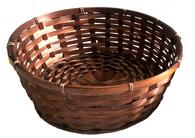 "12""D Round bamboo basket 4""H"