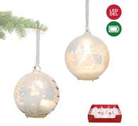 "LED Light up decorative glass ball 3""D - 2 styles"