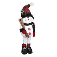 "Fabric standing snowman 28""H"