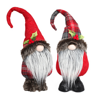 """Fabric standing gnomes 15"""" - 2 styles"""