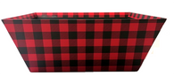 Large Market tray - BLACK & RED CHECKERED
