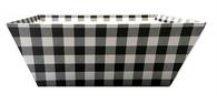 "Large Market tray - BLACK & WHITE CHECKERED 12""x10""x4.5""H"