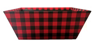 """Small Market tray - BLACK & RED CHECKERED 9.2""""x7.2""""x3.6""""H"""