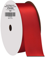 """1.5"""" Wide Satin ribbon, 50 yards - RED"""
