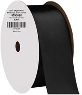 "1.5"" Wide Satin ribbon, 50 yards - BLACK"