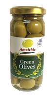 Amalthia Greek green olives jar 140 gr. (250 ml), 12/cs