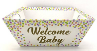 """Large Market tray - Welcome Baby 12""""x10""""x4.5""""H"""