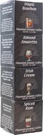 Coffee Masters Coffee Tower - 4 packs of flavoured coffee 12 towers/cs Maple Bourbon, Almond Amaretto, Irish Cream & Spiced Rum