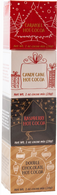 Coffee Masters Cocoa Tower - 4 packs of flavoured cocoa, 12 towers/cs Caramel, Candy Cane, Raspberry, Double Chocolate