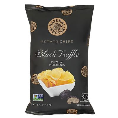 NATURAL NECTAR Black truffle potato chips 141 gr., 9/cs