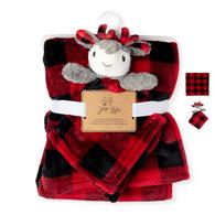 Fleece blanket & Nunu Set - PLAID