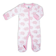 Coverall sleeper 100% Cotton - PINK ELEPHANT