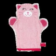 Pink Cat wash mitt  100% Cotton