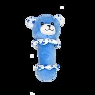 "Soft blue bear rattle 6""H"