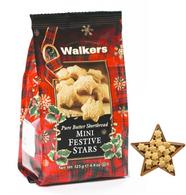 Walkers Pure Butter mini shortbread stars 125 gr., 12/cs
