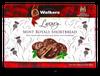 Walkers Luxury Mint Royals Shortbread dipped in dark chocolate 150 gr., 12/cs