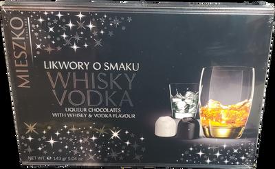 Mieszko Whisky Vodka Liqueur Chocolates 143 gr., 13/cs
