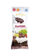 Lamontagne milk chocolate covered raisins 57 gr., 12/cs
