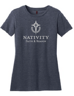 Heather Navy Cotton/Poly Blend