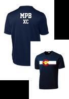 MPB Adult Cross Country Mustang Flag Shirt