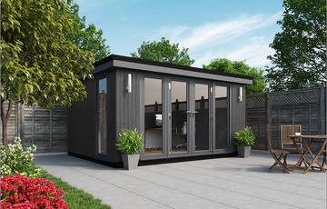 contemporary panoramic garden rooms, garden offices, garden buildings, garden studios, garden rooms uk, garden rooms cheshire, garden rooms north wales, garden rooms flintshire
