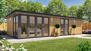 A large garden room or even a garden annexe can be built to incorporate toilet, shower and kitchens