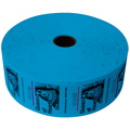 Queen of Hearts Jumbo Ticket Roll - Blue