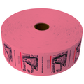 Queen of Hearts Jumbo Ticket Roll - Pink
