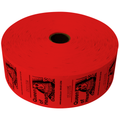 Queen of Hearts Jumbo Ticket Roll - Red