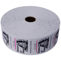 Queen of Hearts Jumbo Ticket Roll - White